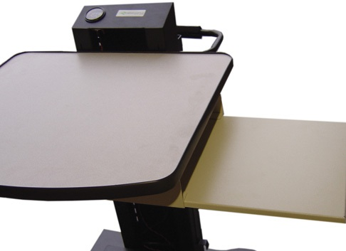 B126 Slide-out Shelf for NB Series Mobile Powered Workstations by Newcastle Systems