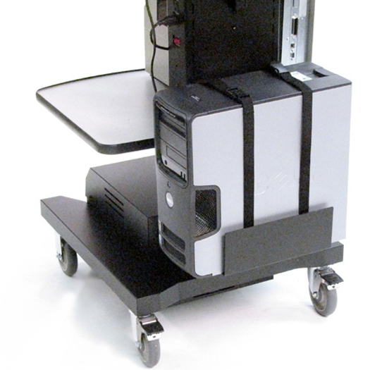 B109 Adjustable CPU / Inverter Holder for NB & PC Series Mobile Powered Workstations by Newcastle Systems