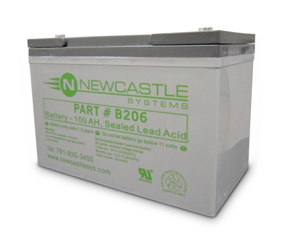 B206 Battery, 100AH Sealed Lead Acid by Newcastle Systems