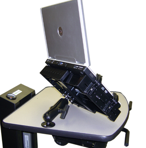 "B112 Laptop / Tablet Holder with 7"" Arm for NB, PC & EC Series Mobile Powered Workstations by Newcastle Systems"