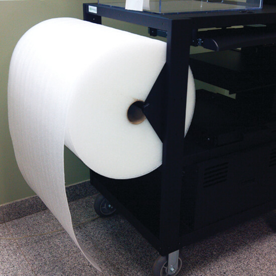 B135 Bubble Wrap Holder for PC Series Mobile Powered Workstations by Newcastle Systems