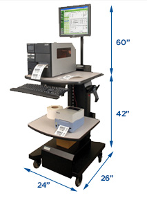 Mid-Size, NB Series Mobile Powered Workstation by Newcastle Systems