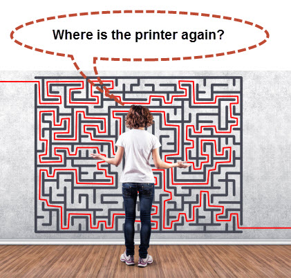 where is printer stand