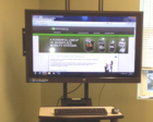 B178 Heavy Duty LCD Holder for NB Series Mobile Powered Workstations by Newcastle Systems