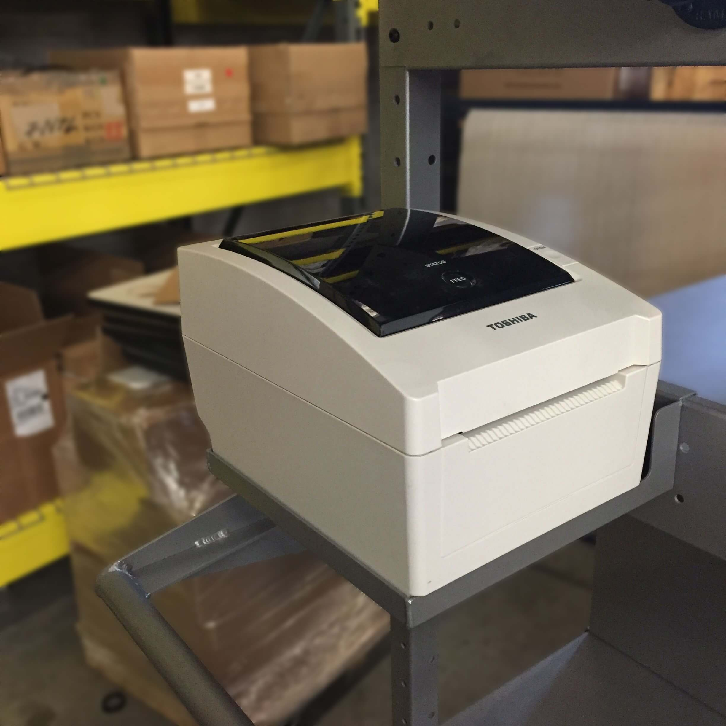 B302 Printer Tray Shelf for PowerPick Series Mobile Picking Cart by Newcastle Systems