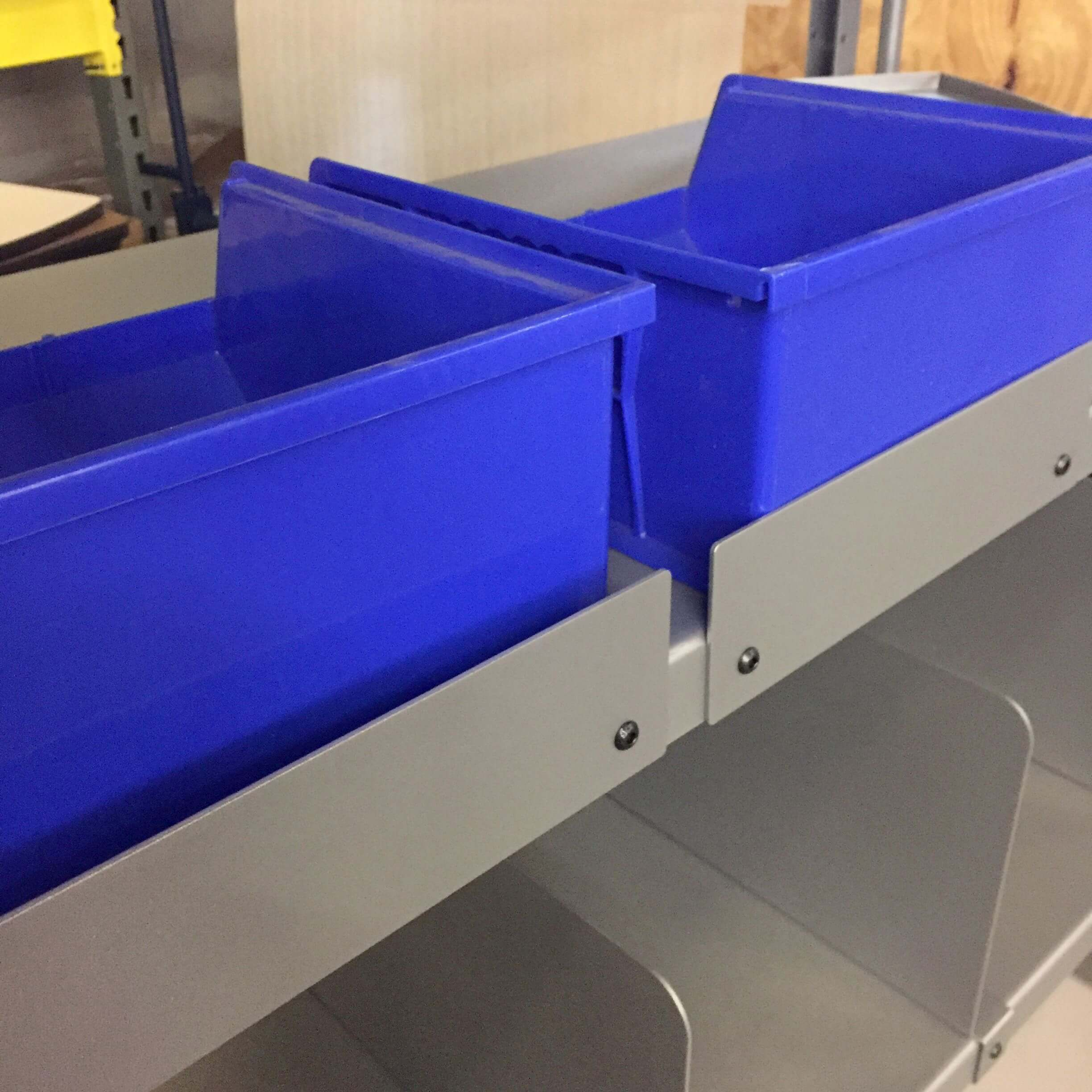 """B306 10"""" x 3"""" shelf lips for PowerPick Mobile Picking Carts by Newcastle Systems"""