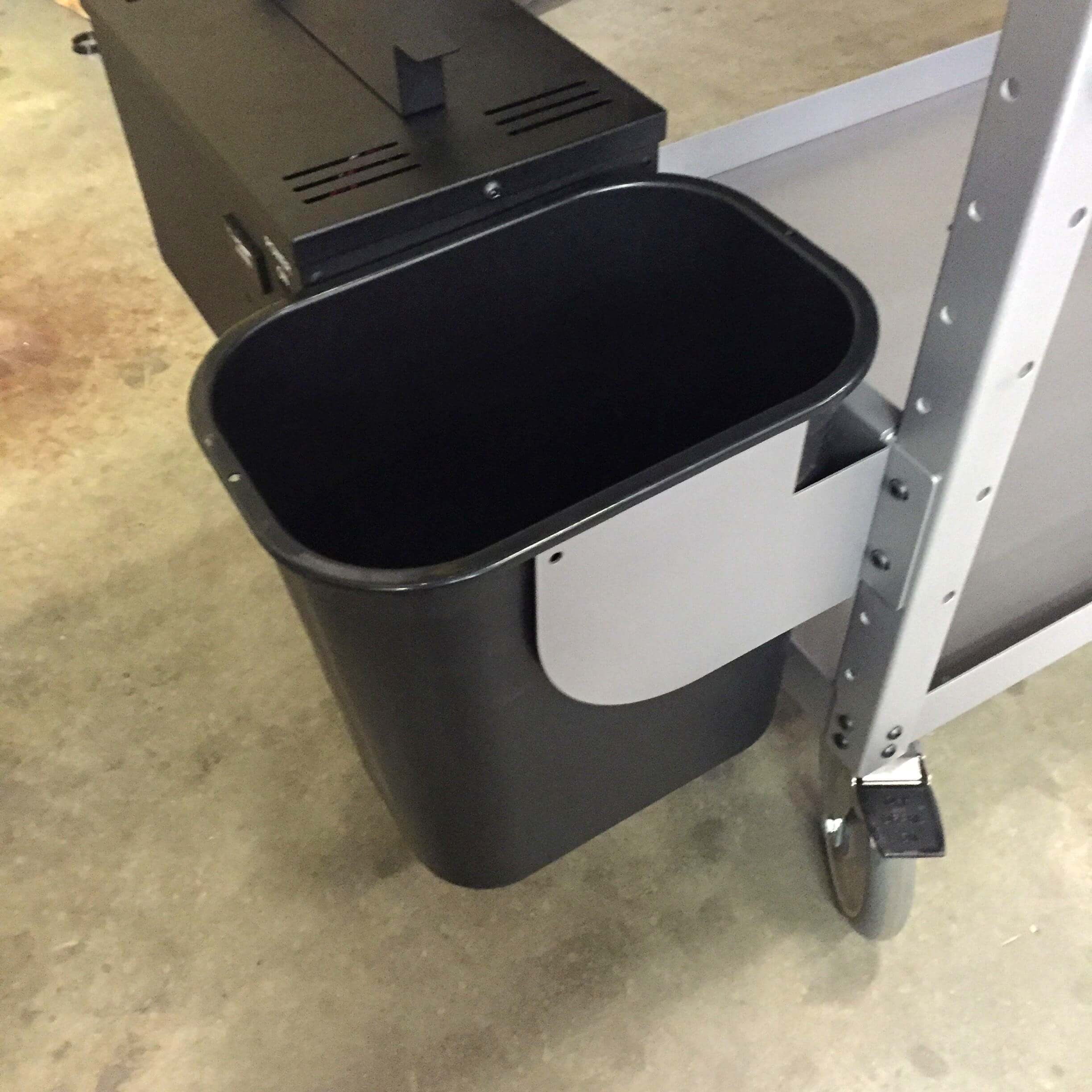 B309 Trash Can Holder for PowerPick Series Mobile Picking Carts by Newcastle Systems