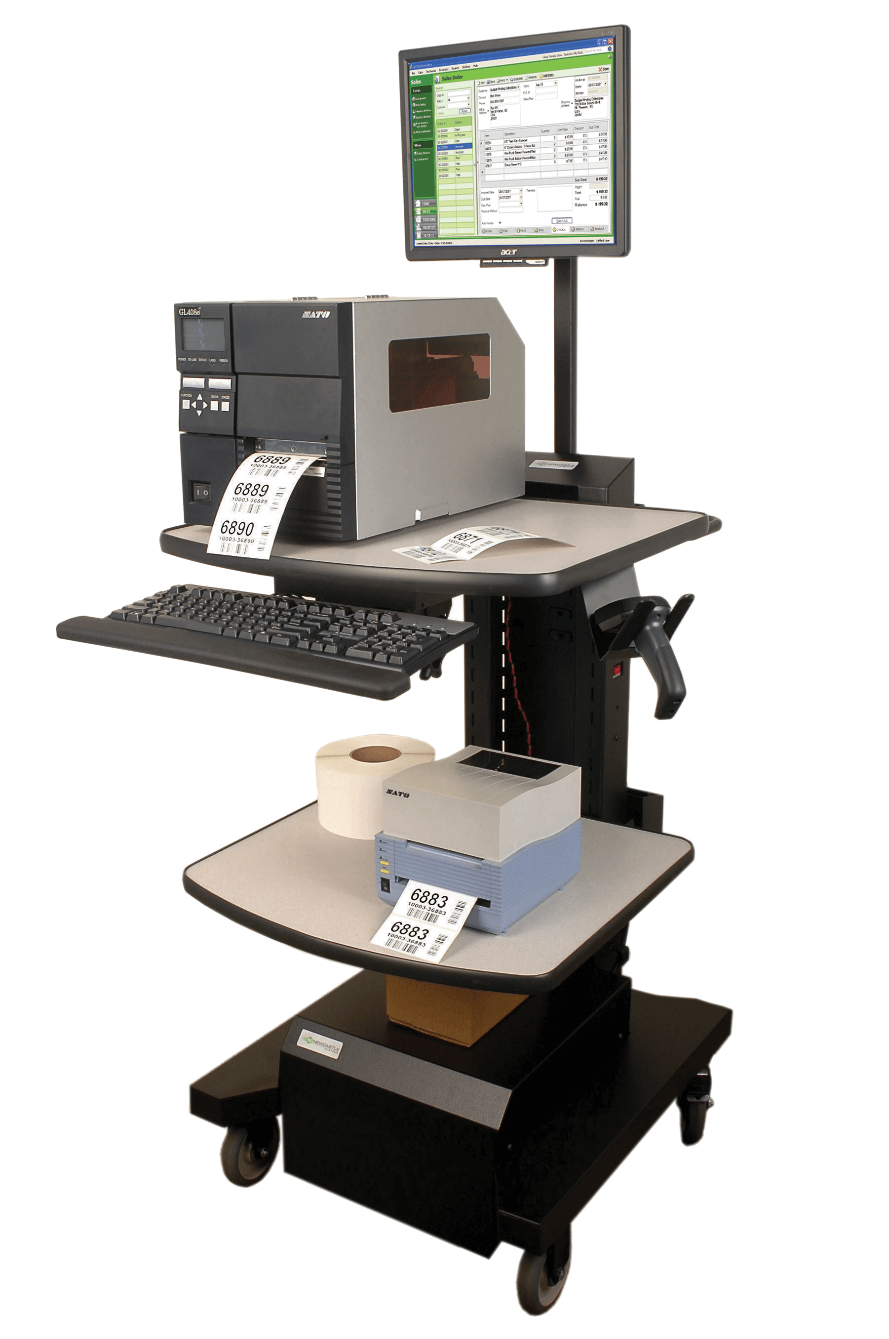 NB Series Mobile Powered Workstation by Newcastle Systems