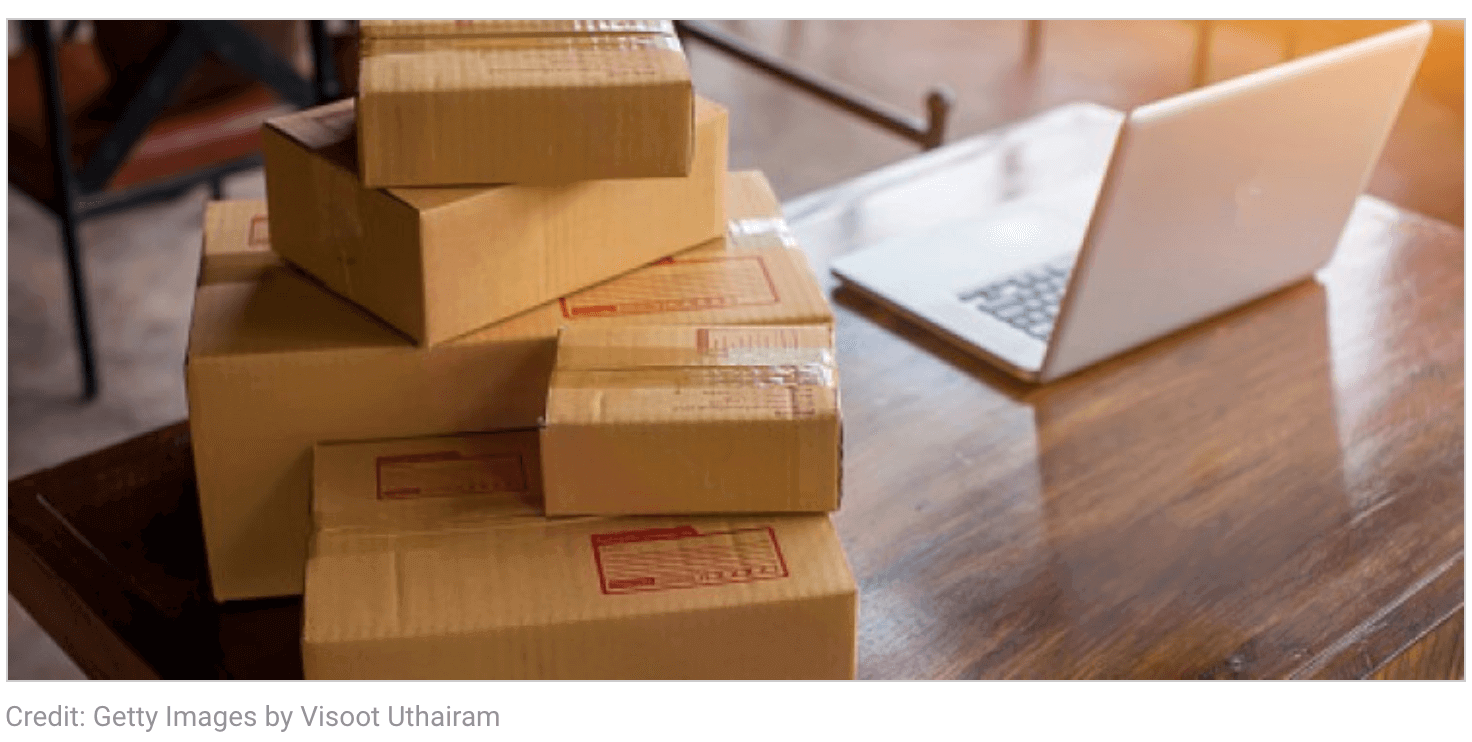 Packages on Table