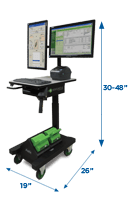 Height-Adjustable, Apex Series Mobile Powered Workstation by Newcastle Systems
